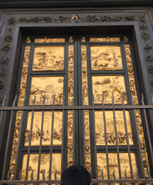 Baptistery gold doors