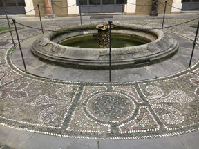 courtyard fountain w mosaics