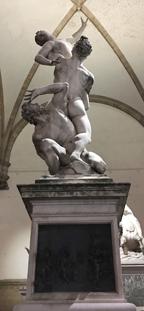 Loggia della Signoria rape of the sabines