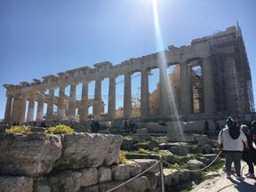 acropolis from erechtheion