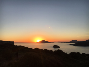 sunset at sounion