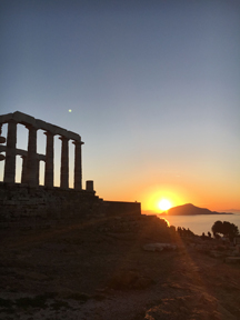 temple of poseidon sunset10