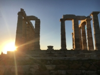 temple of poseidon sunset2