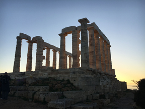 temple of poseidon sunset4